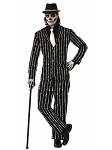 Skeleton Bone Pin Stripe Suit