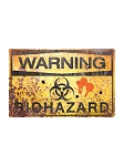 Biohazard Warning Metal Sign