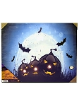 Bats and Pumpkins LED Canvas Art