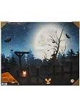 Halloween Cemetery LED Canvas Art