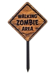 Walking Zombie Area Sign
