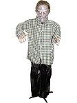 Standing Zombie Male In Plaid Shirt