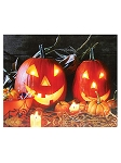 Jack-O-Lanterns LED Canvas Art