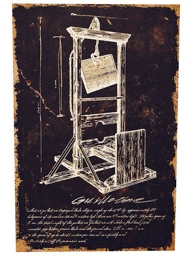 Guillotine Canvas Wall Art Decoration, Halloween Canvas ...