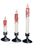 LED Flickering Bloody Candles Set