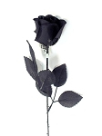 Artificial Black Prince Rose
