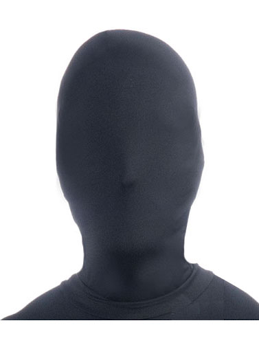 Disappearing Man Black Halloween Mask