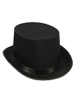 Black Satin Sleek Top Hat