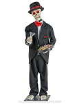 Animated Party Hardy Skeleton Prop