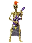 Animated Guitar Rock Star Skeleton