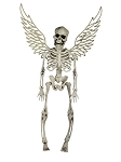 Winged White Skeleton Prop