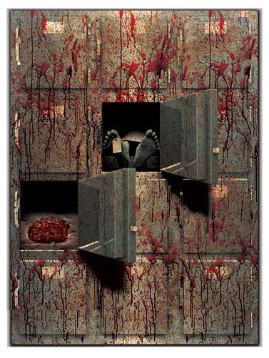 Jumbo Morgue Gore Decor Decoration Halloween Scene Setter