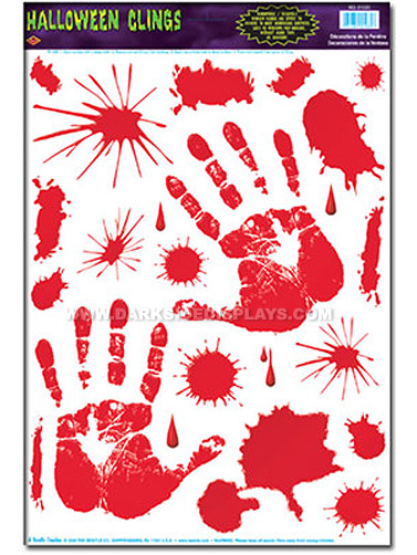 how to create bloody handprints