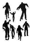 Zombie Wall Art Decals