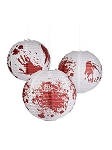Bloody Handprint Paper Lantern Set