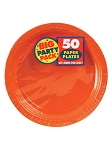 Orange Party Pack Luncheon Plates