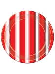 Red and White Stripes Luncheon Plates