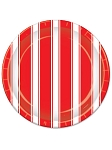 Red and White Stripes Dessert Plates
