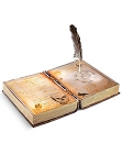 Animated Spell Book with Feather