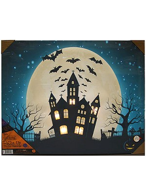 Haunted House LED Canvas Art