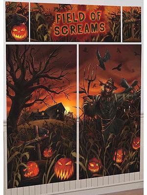 field of screams wall decorating kit