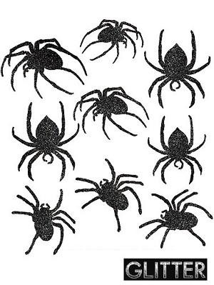 glitter spider cut outs - Spider Decorations