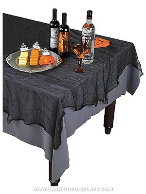 Black Gauze Table Cover