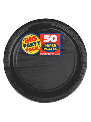 Black Party Pack Luncheon Plates