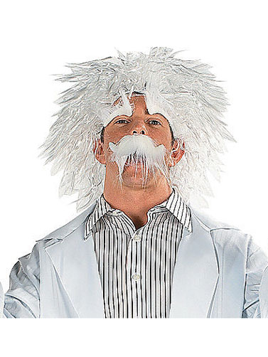 Mad Scientist Wig and Mustache Set