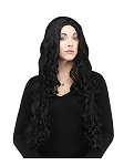 Long Curly Black Wig