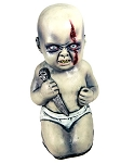 Evil Baby with Knife Prop