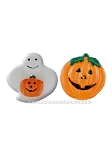 Pumpkin and Ghost Floating Candles