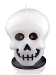 White Skull Candle