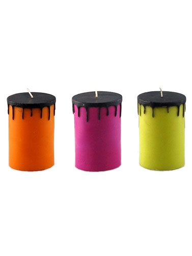 Halloween Drip Candles - 3 Pc