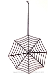 Metal Spider Web Ornament