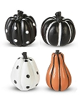 Miniature Patterned Pumpkin Set