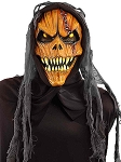 Scary Hooded Pumpkin Mask