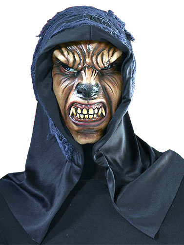Quick View  sc 1 st  Darkside Displays & Scary Hooded Wolf Mask Scary Halloween Masks