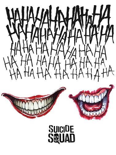 Joker Ha Ha Ha Tattoo: Suicide Squad Joker Tattoo Kit, Halloween Costume Accessories