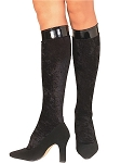 Black Velvet Knee High Stockings