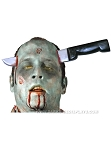 Zombie Knife Thru Head Accessory