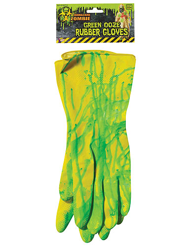 Biohazard Zombie Rubber Gloves