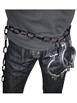 Jailer's Belt with Cuffs Accessory