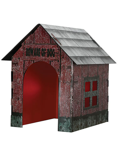 Animated Haunted Doghouse Prop, Animated Halloween Props
