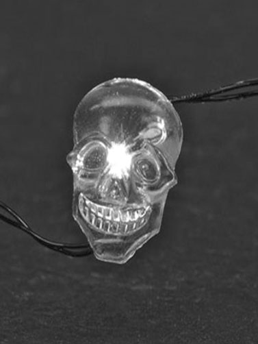 White Led Skull Moon Lights
