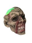 Zombie Head with Light-Up Brain