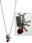 Zombie Charm Necklace