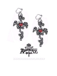 Rose Thorn Cross Earrings