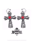 Wrought Cross Earrings