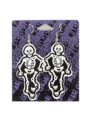 Skeleton Paper Earrings